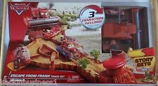 DISNEY PIXAR CARS-ESCAPE FROM FRANK TRACK SET-STORY SET-TRACTOR,MCQUEEN-BNIP!!!!