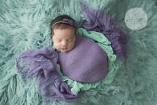 Newborn Baby Infant Photography Props Purple Stretch Blanket Wrap Cloth Backdrop