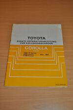 Werkstatthandbuch Reparatur Toyota Corolla Kombi AE92 Kollisionsschäden 1987