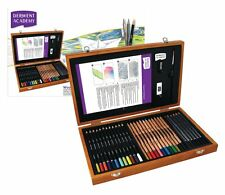 Derwent Academy Wooden Gift Box Set - Colour Pencils & Art Accessories