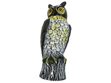 GARDEN OWL DECOY BIRD SCARER - WIND ACTIVATED SPINNING HEAD