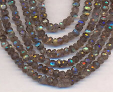 "14"" St Natural Labradorite Faceted Roundel  Beads"