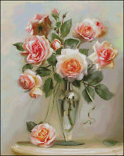 Needlework Crafts Full Embroidery Counted Cross Stitch Kits The Chinese Rose