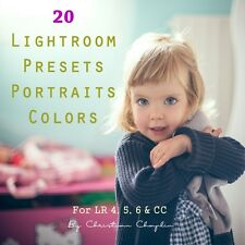 Pack 20 Presets Portraits Color for Lightroom 4, 5, 6 & CC