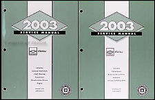 2003 Chevy Malibu Shop Manual 2 Volume Set Chevrolet OEM Repair Service Books LS