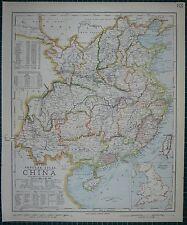 1883 LETTS MAP ~ CHINA SZCHUEN KWEI-CHAU WANG-TUNG FORMOSA TREATY PORTS