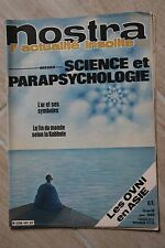 NOSTRA ACTUALITE INSOLITE N°407 JAN 1980 / SCIENCE PARAPSYCHOLOGIE OVNI ASIE