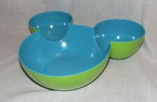 Disney Store Mickey Mouse Icon Shaped Serving Bowl Two Colors