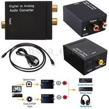 Digital Conversor De Audio Optico A Analogico Coaxial Adaptador RCA Convertidor