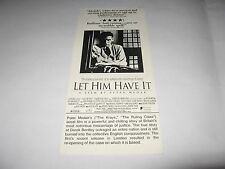 RARE 1991 LET HIM HAVE IT PREMIERE SCREENING MOVIE TICKET CHRISTOPHER ECCLESTON