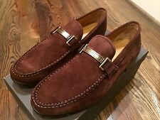 700$ Bally Suede Loafers Size US 10 Made in Switzerland