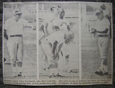 """Sept. 4, 1970 Redskin Head Coach Vince Lombardi 5x7"""" Newspaper Photo in Action"""