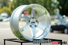 18x8.5 Inch +30 ESR SR07 5x114.3 Machined Silver Wheels Rims Civic 350z G35 G37