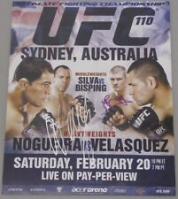 SILVA & BISPING BOTH Hand Signed UFC 110 SYDNEY  11'x14' Photo