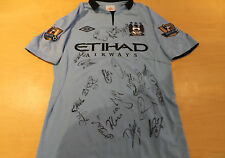 MANCHESTER CITY CHAMPIONS TEAM  SIGNED JERSEY UNFRAMED + PHOTO PROOF & C.O.A