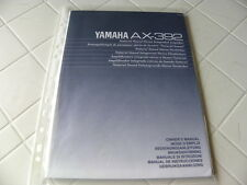 Yamaha AX-392 Owner's Manual  Operating Instructions Istruzioni   New