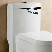 "Funny ""Hello ?"" Monster Decal - Toilet / W.C. / Drawers / Cupboard Doors"