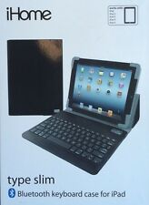 iHome Type Slim - Bluetooth  Keyboard Case For iPad Computer - Fits iPad 1-5.