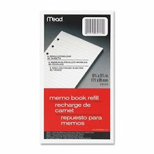 "Mead Memo Book Refill 6 Ring 3 3/4"" x 6 3/4"" Pack of 80 Sheets 1 pack 46534"