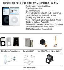 64GB SSD Upgraded Apple iPod Video 5th Gen / Refurbished / 60 day warranty!!!!