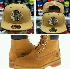 Matching New Era Chicago Black Hawk 9Fifty snapback Hat for Timberland Tan Brown