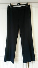 """size 12 navy expensive top quality 'M&S' DESIGNER trousers inside leg 30"""" approx"""