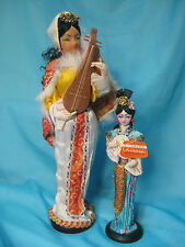 "Vintage Asian Dolls 14"" and 10"""