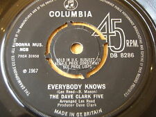 "THE DAVE CLARK FIVE - EVERYBODY KNOWS  7"" VINYL"