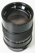 Vivitar Auto 135mm, f/2.8. Olympus Manual Focus OM-mount Lens