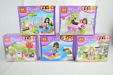 Lots of  5 sets Friend Girl series building toys all new box in