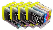 16 LC970 Bk/C/M/Y Ink Cartridges for Brother MFC-260C