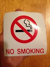 106 No Smoking Decal Sticker Sign Tablet Laptop Vinyl 4 X 4 Inches