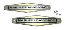 Harley Gas Tank EMBLEMS with SCREWS for 1966 - 1971 Shovel & Servi-Car