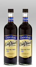 DaVinci SUGAR FREE CHOCOLATE Syrup (2 EACH) 750ml Bottles
