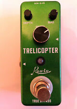 ROWIN TRELICOPTER TREMOLO EFFECT PEDAL FOR GUITAR WITH TRUE BY PASS