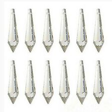 200pc 31mm Icicle Prism Drop Crystal Acrylic Garland Strand Pendant Part Supples