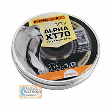 Rhodius Alpha Xt70 Disco De Corte - 115mm X 1mm-Pack 10