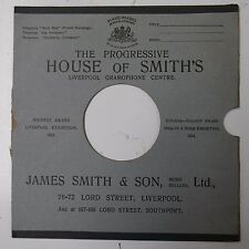 "10"" 78rpm gramophone record sleeve HOUSE OF SMITH`S liverpool james smith & son"