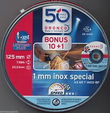 10 +1 Trennscheibe 125x1mm Dronco INOX Metalldose Metall/Stahl AS 60 T special