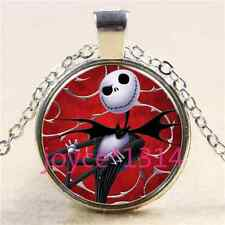 Nightmare Before Christmas Cabochon silver Glass Chain Pendant Necklace #3029