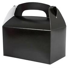36 BLACK COLOR TREAT BOXES Birthday Party Loot Goody Bags #ST19 FREE SHIPPING