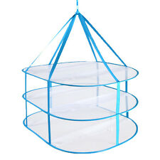 Drying Rack Folding Hanging Clothes Laundry Sweater Basket Dryer Net 3 Layers