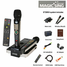 2016 Magic Sing ET28KH English Karaoke 2300 songs USB BAG 2 Wireless Microphones