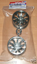 Tamiya 54677 GF-01 Chrome Plated 10-Spoke Wheels (GF01/Land Cruiser 40/Vajra)