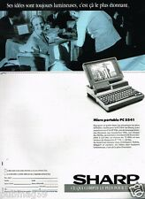 Publicité advertising 1989 Ordinateur Micro Portable PC 5541