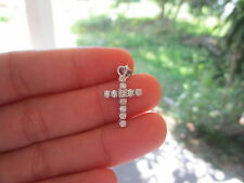 .58 Carat Diamond White Gold Cross Pendant 14K sep013 PAYPAL