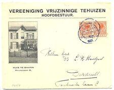 NEDERLAND 1931  GEILLUSTR. CV = HUIS TE BAARN  VRIJZINNIGE TEHUIZEN = VW PR EX