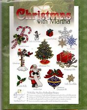 Christmas with Martha 23 Holiday Machine Embroidery Designs by Martha Pullen NEW