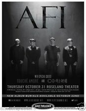 AFI/TOUCHE AMORE/COMING 2013 PORTLAND CONCERT TOUR POSTER-Alternative Rock Music