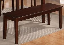 Solid wood Capri dinette kitchen dining bench 52x16 mahogany East West Furniture
